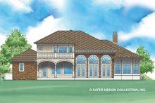 Architectural House Design - Mediterranean Exterior - Rear Elevation Plan #930-479