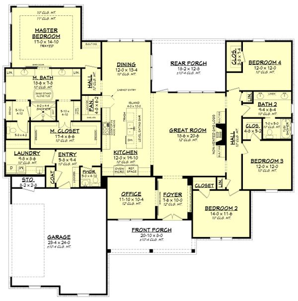 Farmhouse Floor Plan - Main Floor Plan Plan #430-226