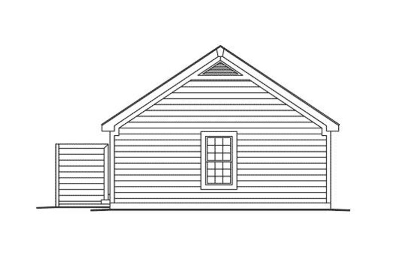 Traditional Exterior - Rear Elevation Plan #57-313 - Houseplans.com
