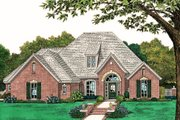 European Style House Plan - 4 Beds 3 Baths 2391 Sq/Ft Plan #310-816 Exterior - Front Elevation