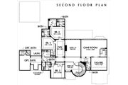 European Style House Plan - 4 Beds 5.5 Baths 5900 Sq/Ft Plan #449-3 Floor Plan - Upper Floor Plan