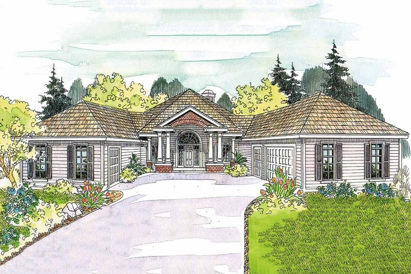 Ranch Exterior - Front Elevation Plan #124-577 - Houseplans.com