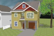 Craftsman Style House Plan - 3 Beds 2.5 Baths 1758 Sq/Ft Plan #423-62 Exterior - Front Elevation