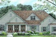 Craftsman Style House Plan - 3 Beds 3 Baths 2393 Sq/Ft Plan #20-164 Exterior - Front Elevation