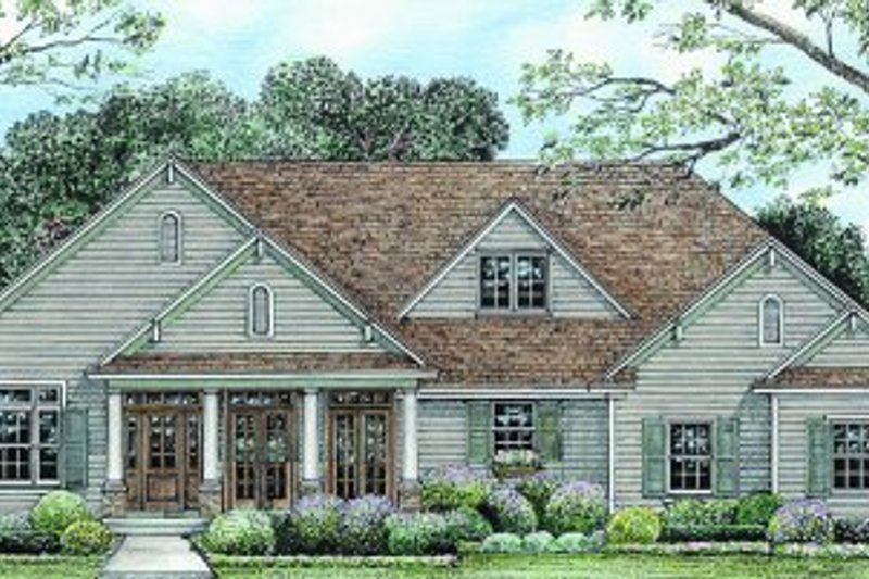 Craftsman Exterior - Front Elevation Plan #20-164