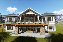 Craftsman Exterior - Rear Elevation Plan #1069-1