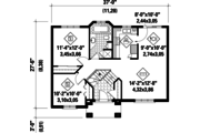Traditional Style House Plan - 2 Beds 1 Baths 921 Sq/Ft Plan #25-4331 Floor Plan - Main Floor Plan