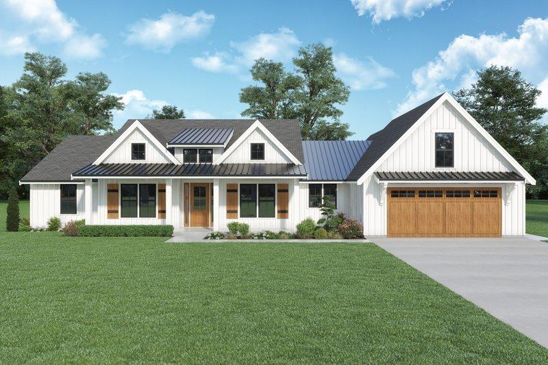 Dream House Plan - Farmhouse Exterior - Front Elevation Plan #1070-141