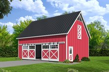 Farmhouse Exterior - Front Elevation Plan #932-133