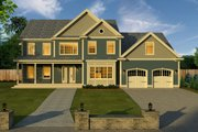 Traditional Style House Plan - 4 Beds 2.5 Baths 4279 Sq/Ft Plan #497-46 Exterior - Front Elevation