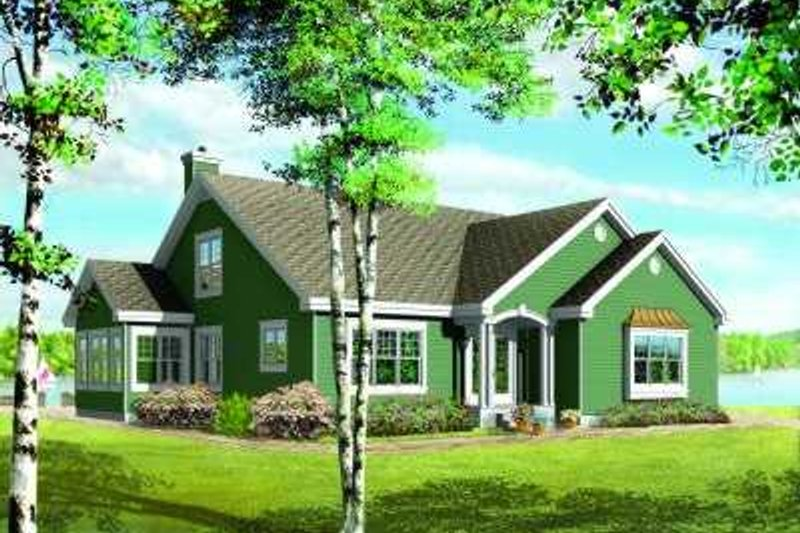 Traditional Exterior - Front Elevation Plan #23-332