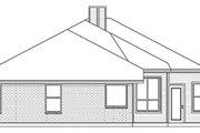 European Style House Plan - 4 Beds 2 Baths 2105 Sq/Ft Plan #84-244 Exterior - Rear Elevation