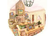 Country Style House Plan - 3 Beds 2.5 Baths 2482 Sq/Ft Plan #429-34 Photo