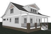 Craftsman Style House Plan - 3 Beds 2.5 Baths 1932 Sq/Ft Plan #461-18 Exterior - Other Elevation