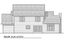 Country Exterior - Rear Elevation Plan #70-599