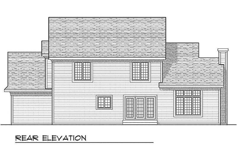 Country Exterior - Rear Elevation Plan #70-599 - Houseplans.com