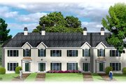 Traditional Style House Plan - 2 Beds 2.5 Baths 4440 Sq/Ft Plan #26-202 Exterior - Front Elevation