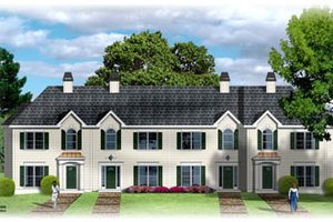 Traditional Exterior - Front Elevation Plan #26-202