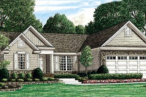 Architectural House Design - Traditional Exterior - Front Elevation Plan #34-162