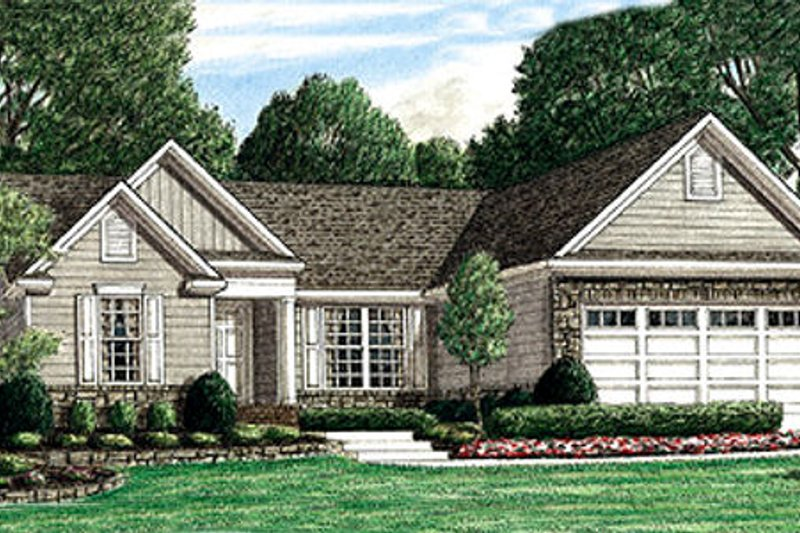 Traditional Exterior - Front Elevation Plan #34-162 - Houseplans.com