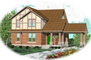 Cottage Exterior - Front Elevation Plan #81-415
