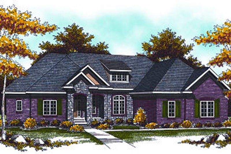 Dream House Plan - European Exterior - Front Elevation Plan #70-875