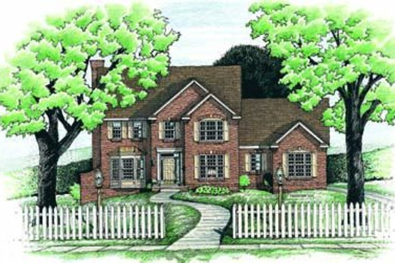 Colonial Exterior - Front Elevation Plan #20-895
