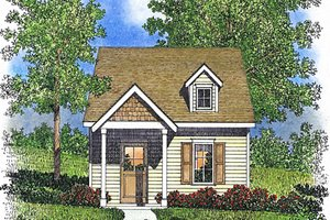 Cottage Exterior - Front Elevation Plan #22-593