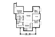 Country Floor Plan - Lower Floor Plan Plan #928-4