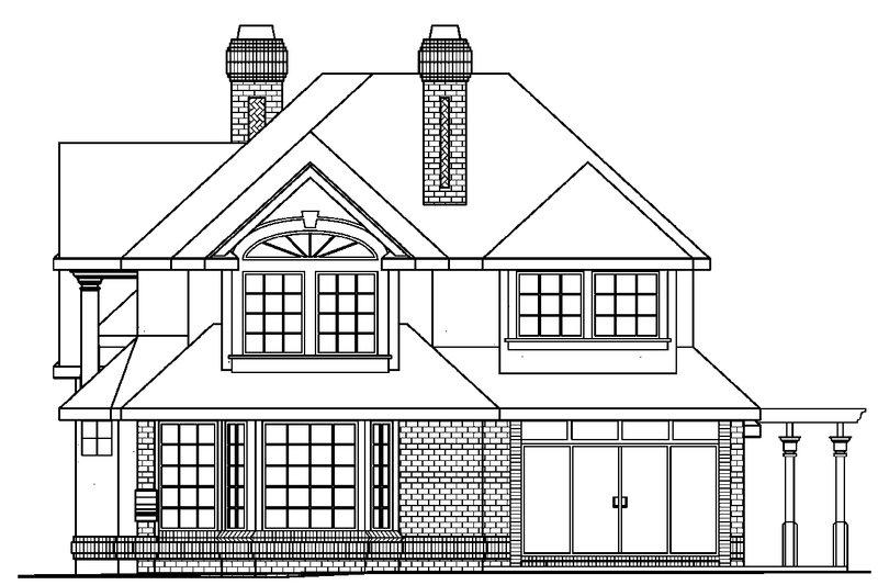 European Exterior - Other Elevation Plan #124-349 - Houseplans.com