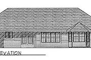 Traditional Style House Plan - 3 Beds 2.5 Baths 1778 Sq/Ft Plan #70-196 Exterior - Rear Elevation