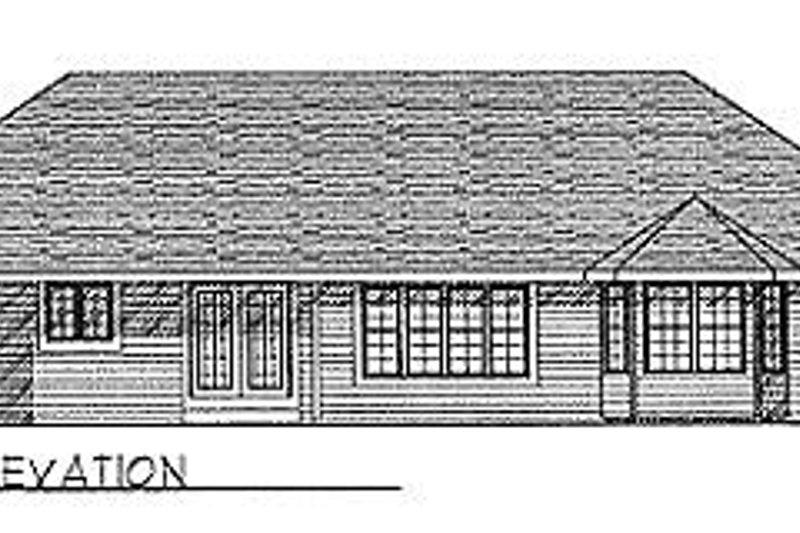 Traditional Exterior - Rear Elevation Plan #70-196 - Houseplans.com