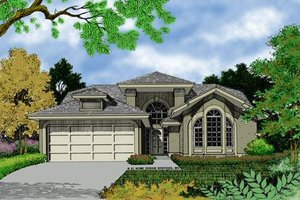 European Exterior - Front Elevation Plan #417-110