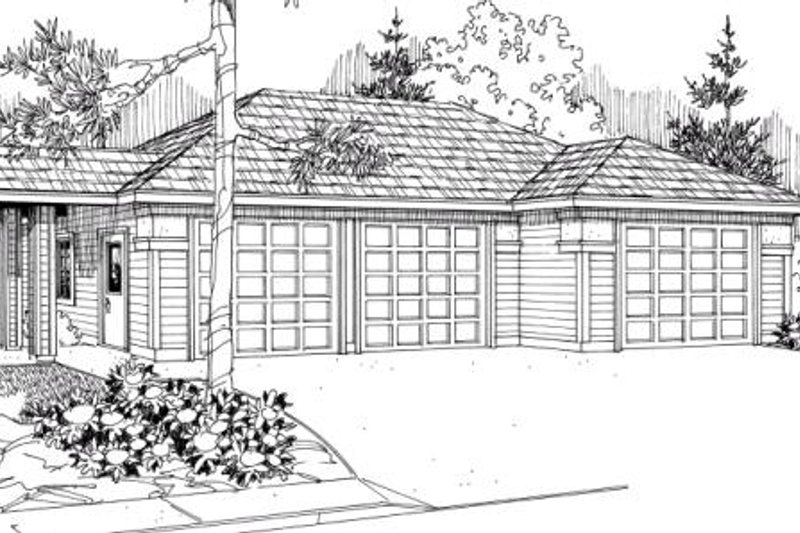 Traditional Exterior - Front Elevation Plan #124-638