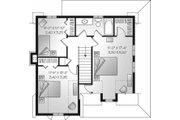 Traditional Style House Plan - 3 Beds 2 Baths 1502 Sq/Ft Plan #23-677 Floor Plan - Upper Floor Plan