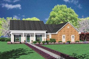 Country Exterior - Front Elevation Plan #36-113
