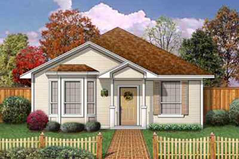 Cottage Style House Plan - 3 Beds 2 Baths 1196 Sq/Ft Plan #84-102 Exterior - Front Elevation