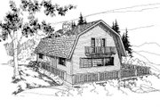 Country Style House Plan - 3 Beds 2 Baths 1680 Sq/Ft Plan #60-112 Exterior - Front Elevation