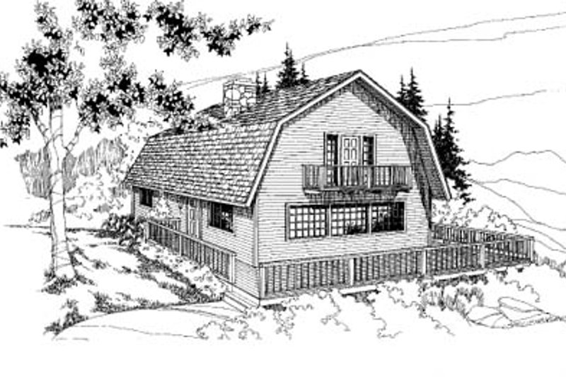 Country Exterior - Front Elevation Plan #60-112 - Houseplans.com