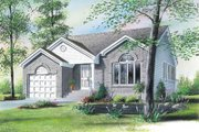 European Style House Plan - 3 Beds 1 Baths 1192 Sq/Ft Plan #23-1023 Exterior - Front Elevation