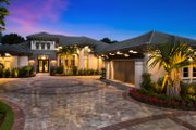 Mediterranean Style House Plan - 4 Beds 4 Baths 5774 Sq/Ft Plan #27-553 Exterior - Front Elevation