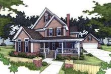 Country Exterior - Front Elevation Plan #120-125