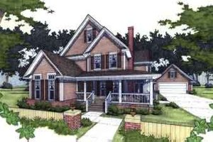 Architectural House Design - Country Exterior - Front Elevation Plan #120-125