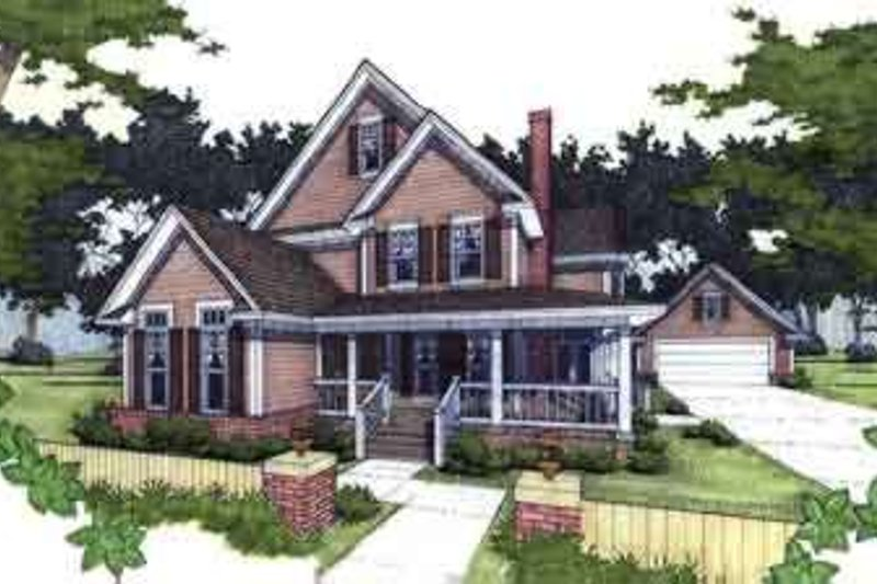 Country Exterior - Front Elevation Plan #120-125 - Houseplans.com