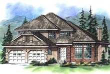 European Exterior - Front Elevation Plan #18-247