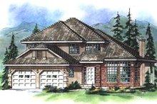 House Blueprint - European Exterior - Front Elevation Plan #18-247