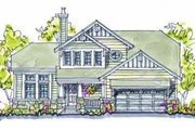 Country Style House Plan - 4 Beds 2.5 Baths 2059 Sq/Ft Plan #20-243 Exterior - Front Elevation