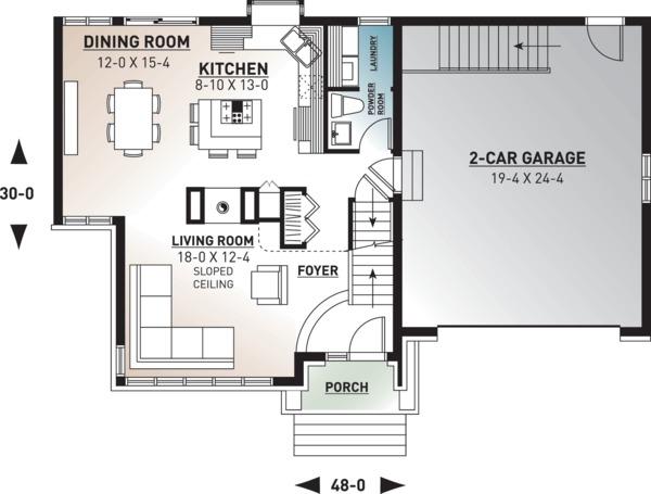 Traditional Floor Plan - Main Floor Plan Plan #23-712