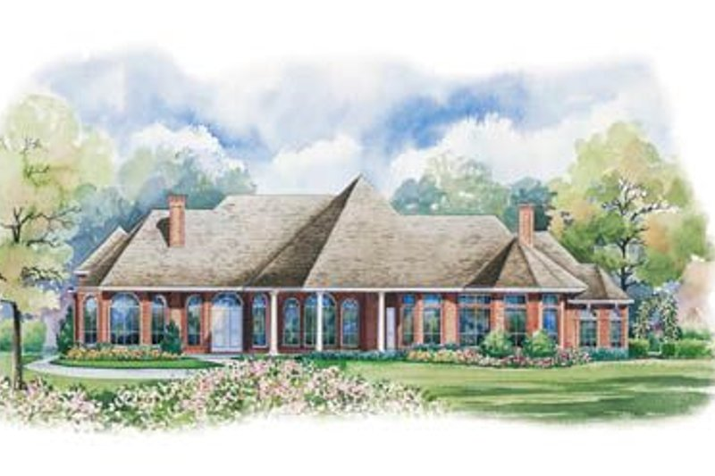 European Exterior - Rear Elevation Plan #20-1159 - Houseplans.com