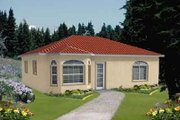 Mediterranean Style House Plan - 1 Beds 1 Baths 784 Sq/Ft Plan #1-115